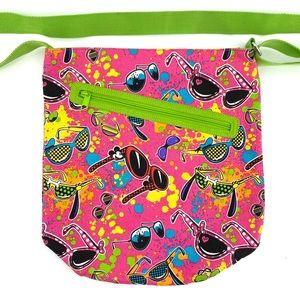 Disney Parks Mickey Minnie Sunglasses Canvas Bag
